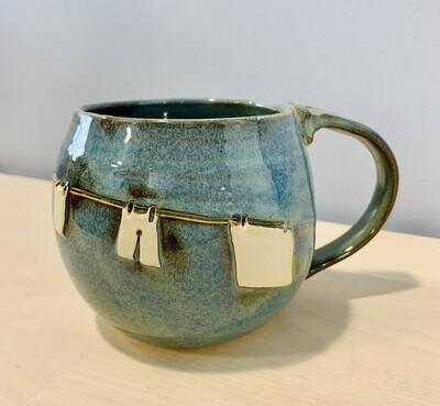 Denim Clothesline Mug GA