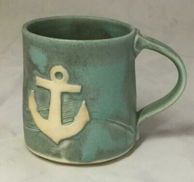 Aqua Anchor Mug GA