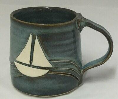 Denim Sailboat Mug GA