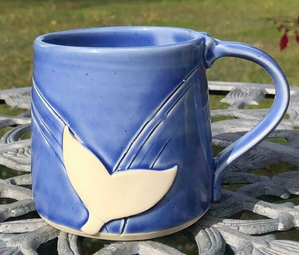 Dark Blue Whale Tail Mug GA