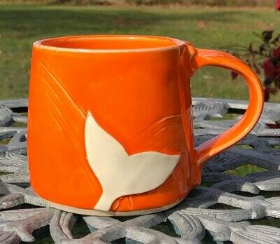 Orange Whale Tail Mug GA