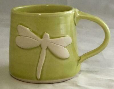 Light Green Dragonfly Mug GA