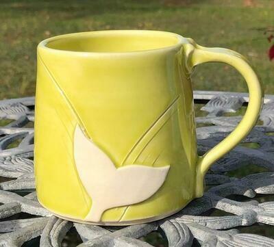 Light Green Whale Tail Mug GA