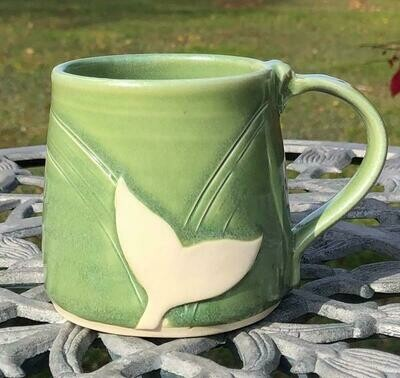 Green Whale Tail Mug GA