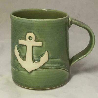 Green Anchor Mug GA