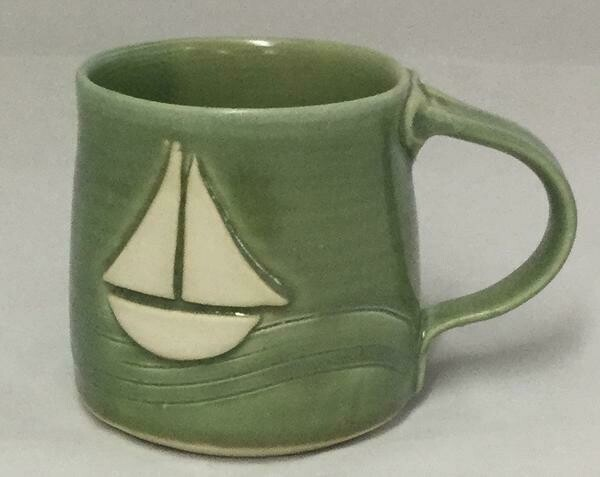 Green Sailboat Mug GA