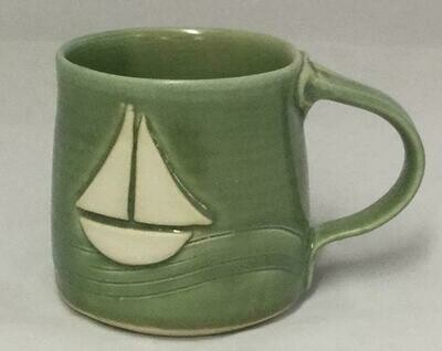 Green Sailboat Mug GA