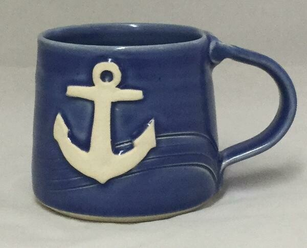 Sky Blue Anchor Mug GA
