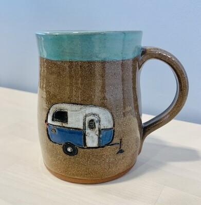 Blue Camper Mug - White Nest