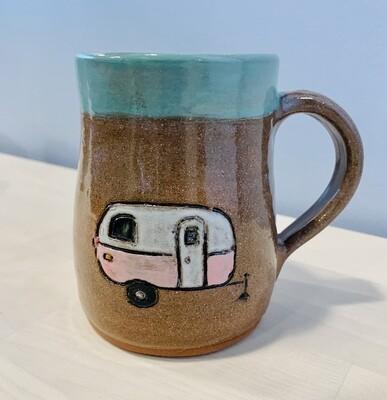 Pink Camper Mug - White Nest