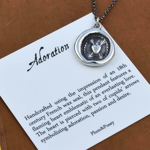 175-Adoration Wax Seal Pendant