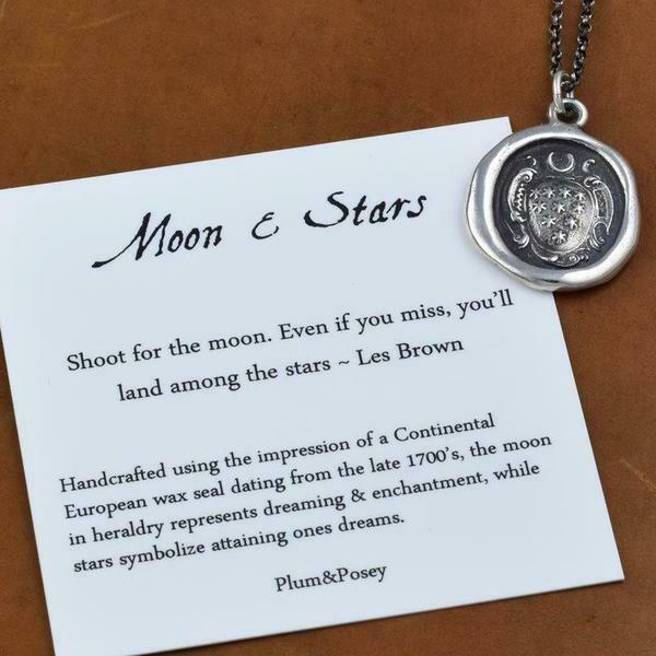 162-Moon&Stars Wax Seal Pendant