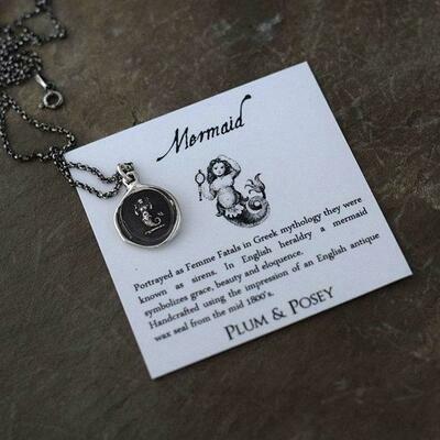 194-Mermaid Wax Seal Pendant