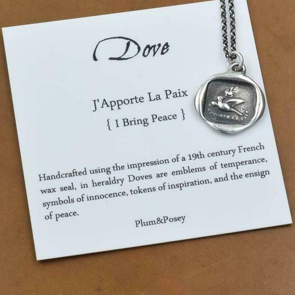 196-Dove Wax Seal Pendant