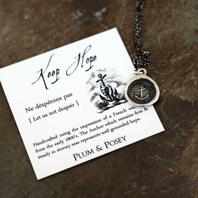 169-Keep Hope Wax Seal Pendant