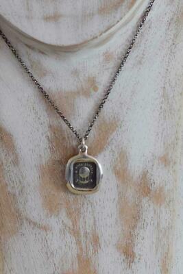 206-Bon Voyage Wax Seal Pendant