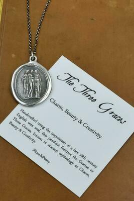 241-Three Graces Wax Seal Pendant