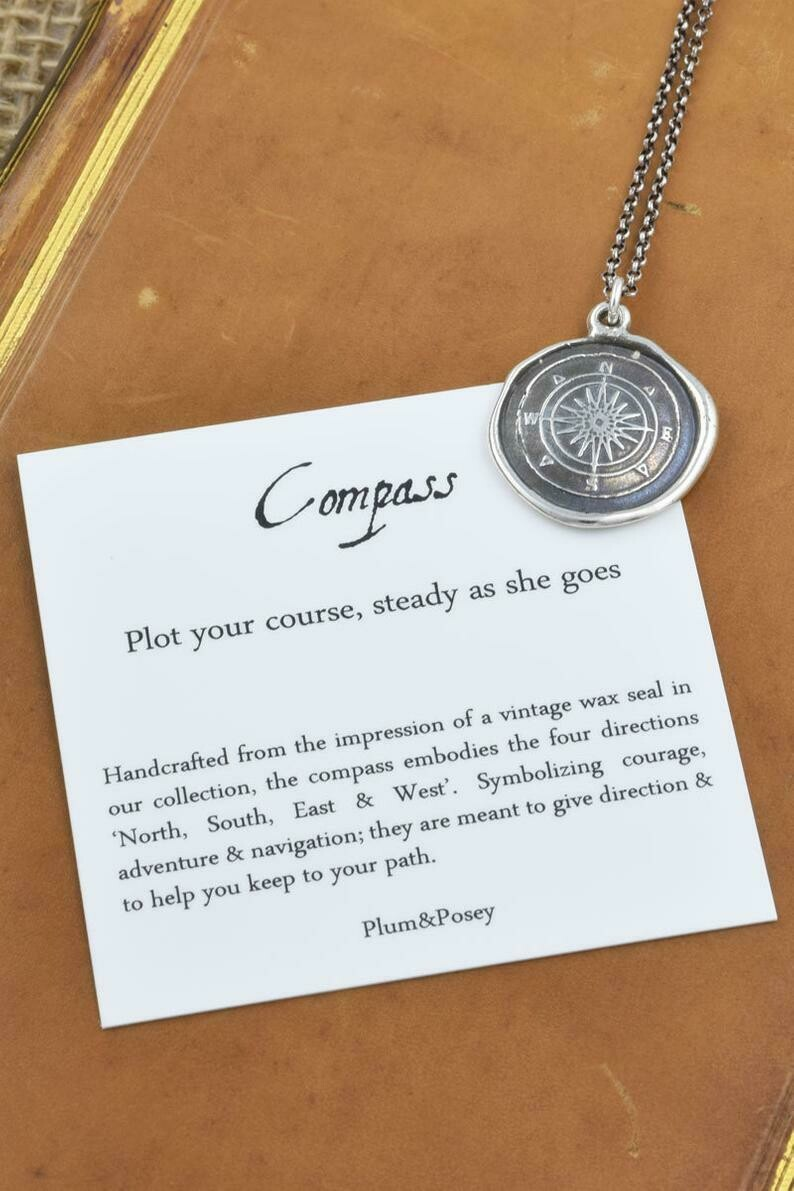 332-Compass Rose Wax Seal Pendant