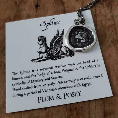 451-Sphinx Wax Seal Pendant
