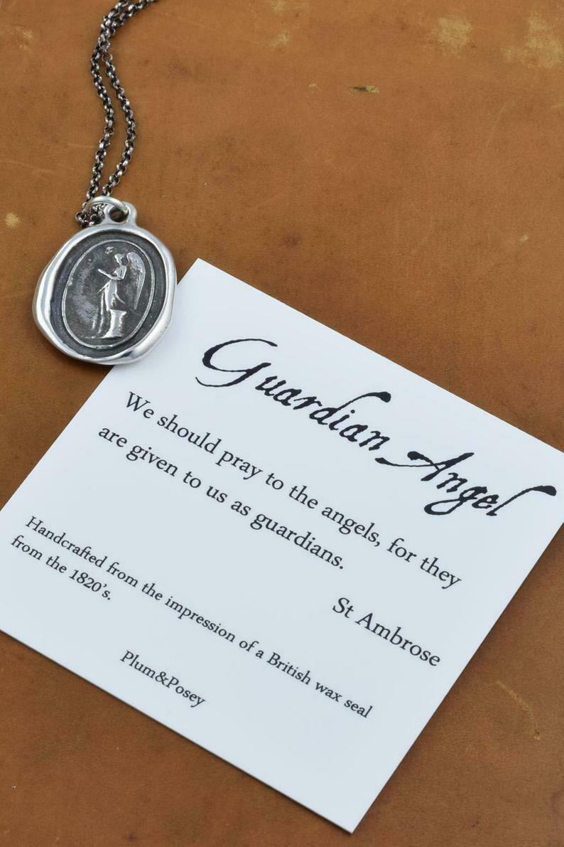 274 - Guardian Angel Wax Seal Pendant