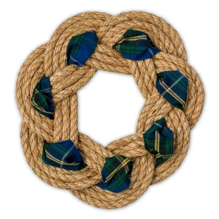 "Tartan Wreath 10"" - All for Knot"