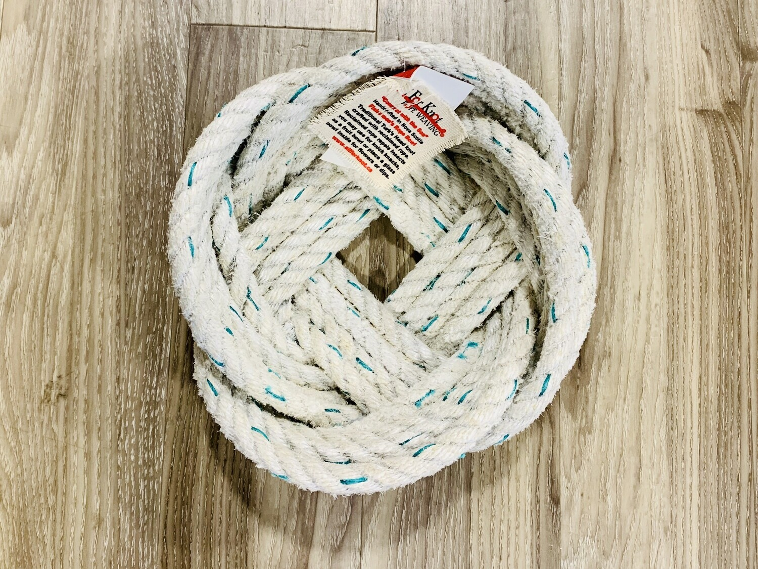 Large Lobster Rope Bowl, White - All for Knot