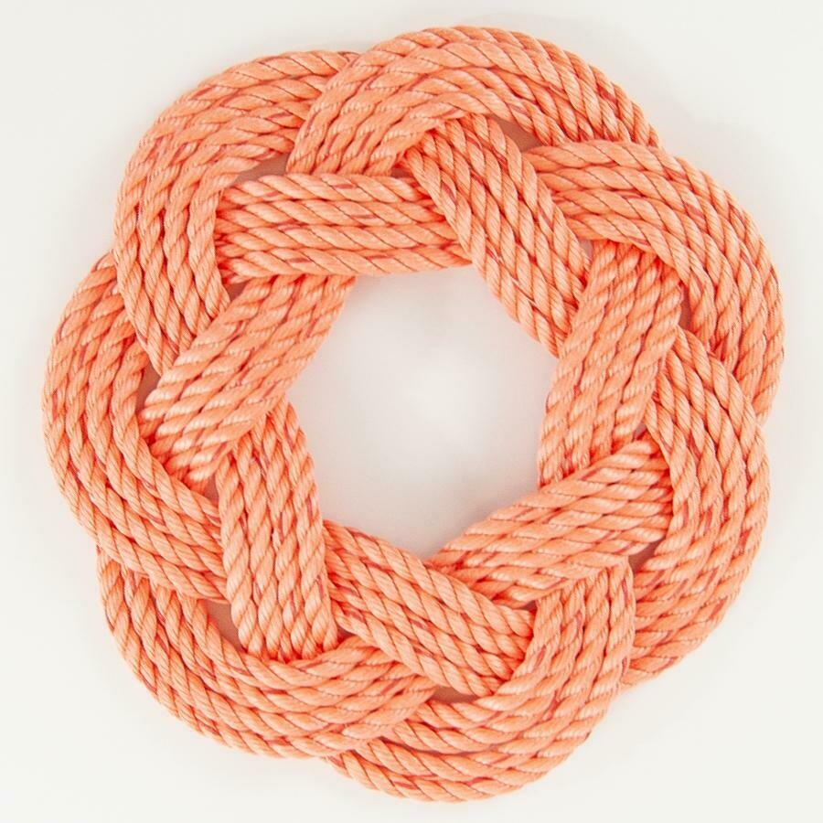 "Lobster Rope Wreath 13"", Coral - All for Knot"