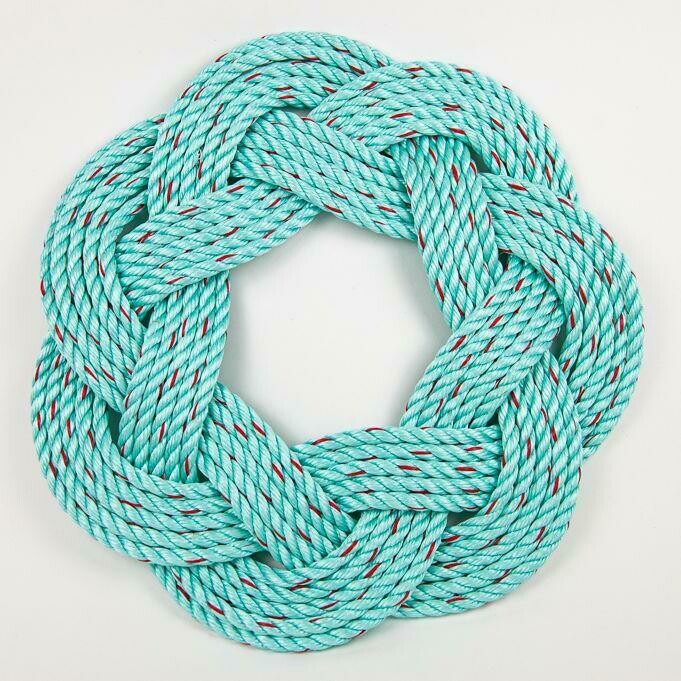 """Lobster Rope Wreath 13"""", Light Blue - All for Knot"""
