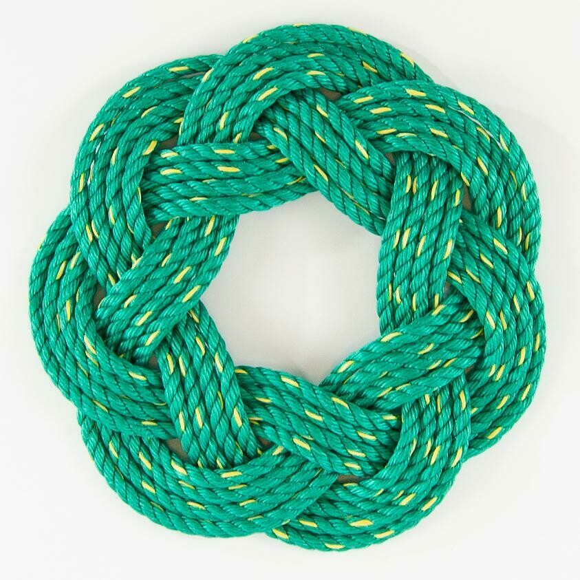 """Lobster Rope Wreath 16"""", Green - All for Knot"""