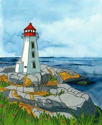 Kat Frick Miller Print- Peggy's Cove