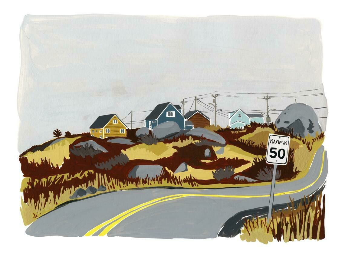 Kat Frick Miller Print- Road to Peggy's Cove