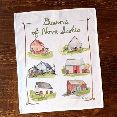 Kat Frick Miller Tea Towel- Barns of NS