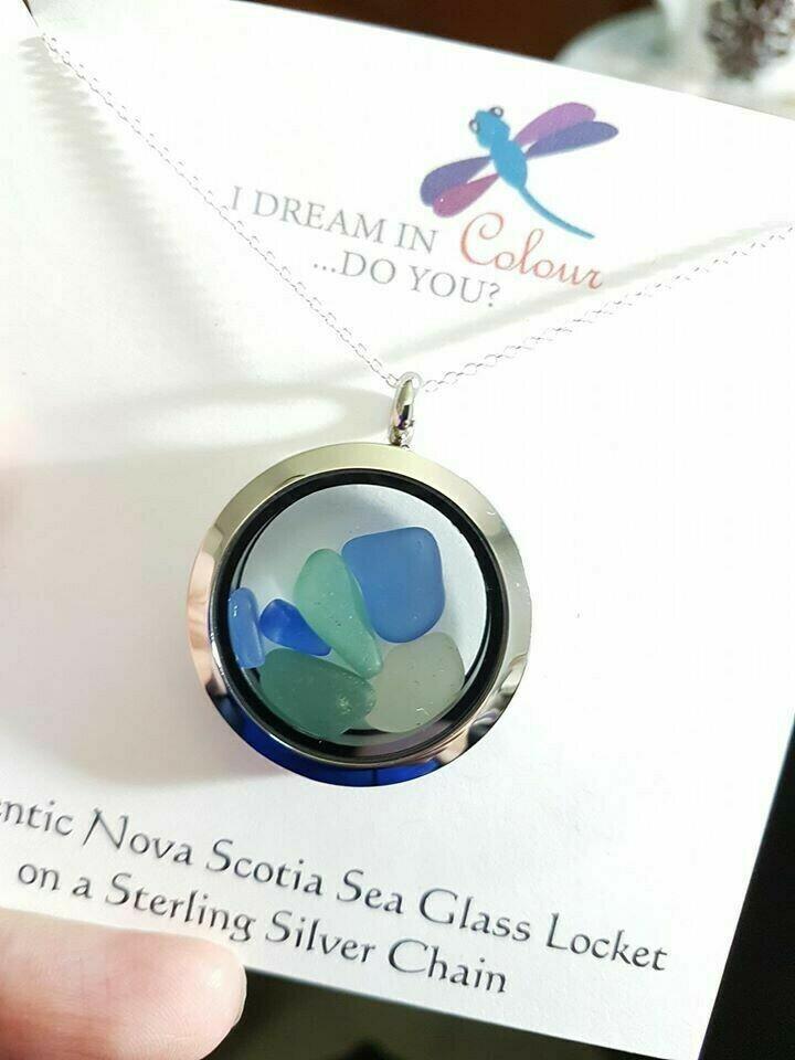 Sea Glass Locket, Large - I Dream in Colour