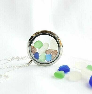 Sea Glass Locket - I Dream in Colour