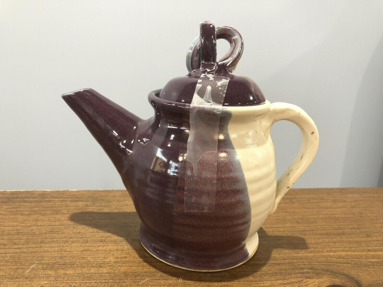White & Purple Teapot - Alicia Kate