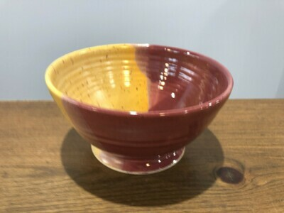 Red & Yellow Medium Bowl - Alicia Kate