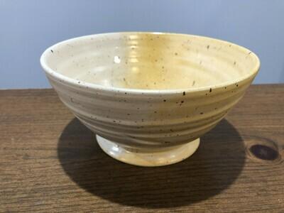 Yellow & White Medium Bowl - Alicia Kate