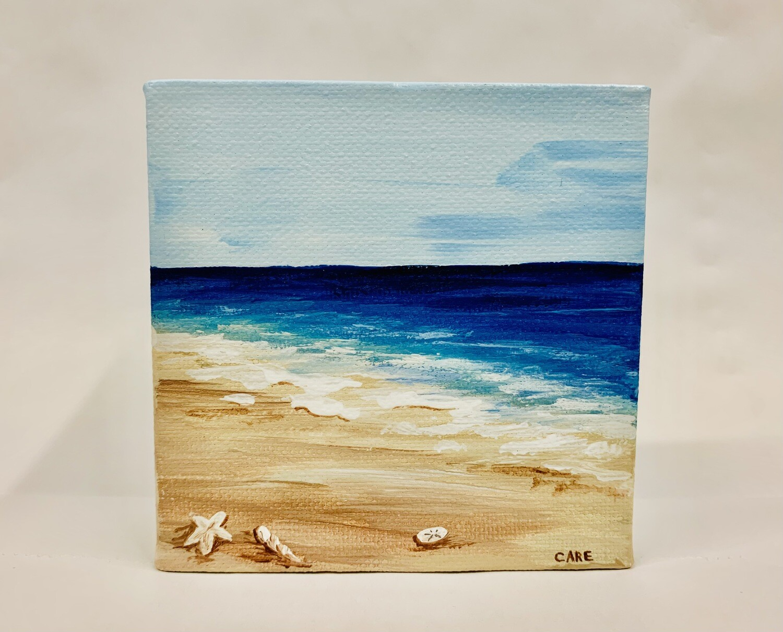 Beach with Shells 4x4 - Care Garrison