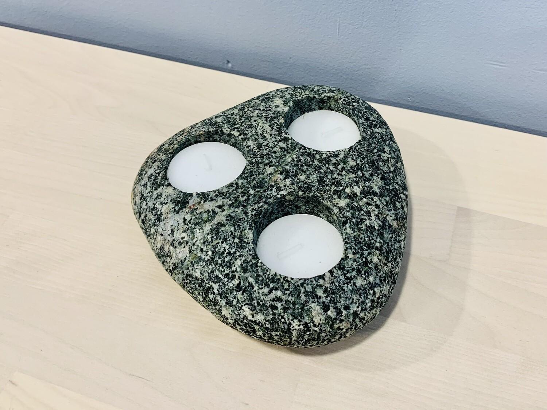 Stone Triple Tea Light - Cornerstone