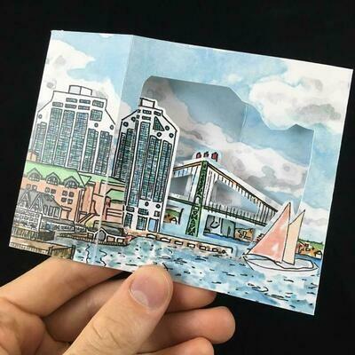 Pop-up Card- Purdy's Warf