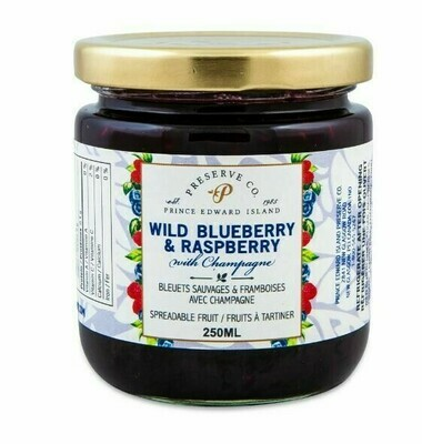 Blueberry & Raspberry with Champagne 250ml, PEI