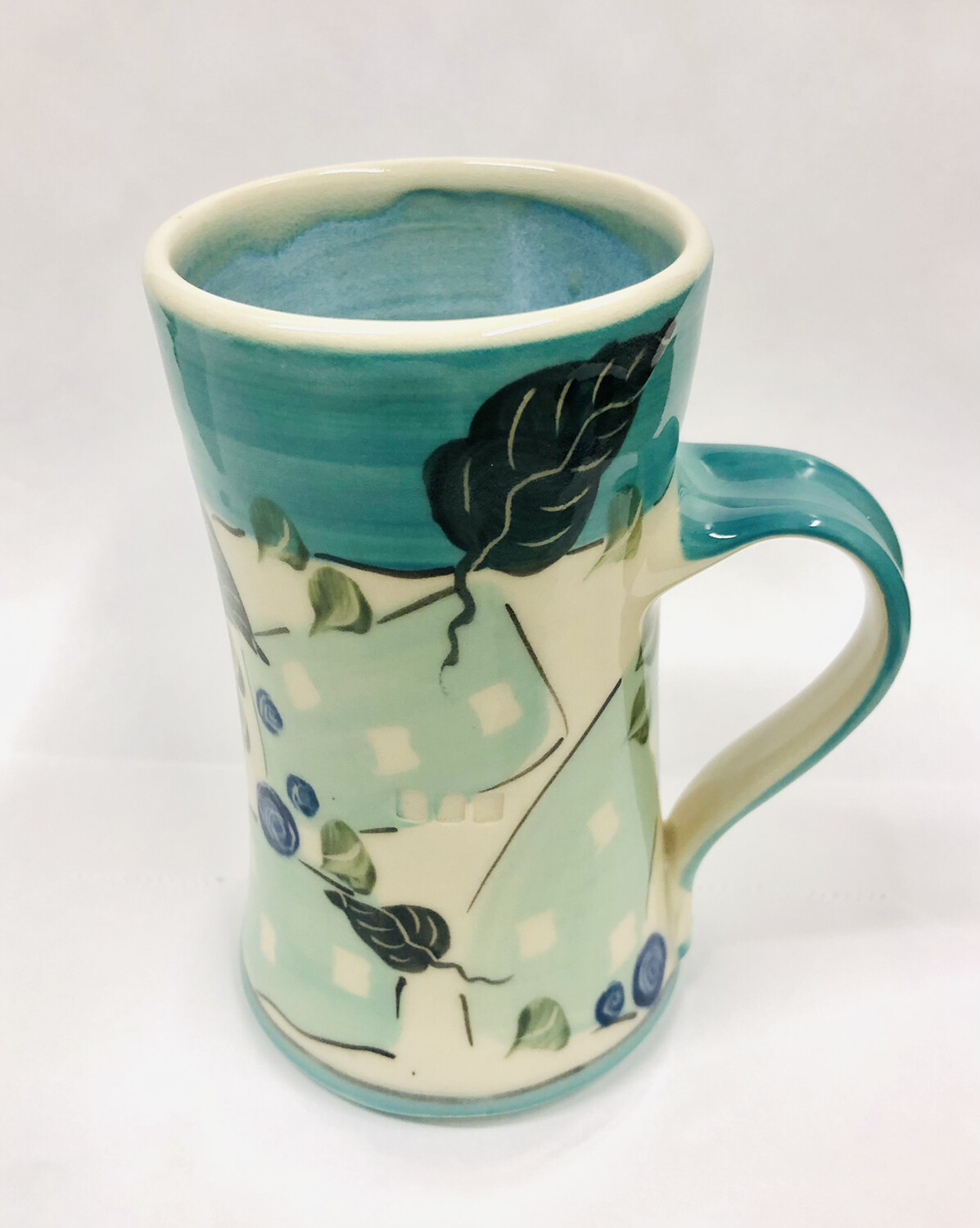 Teal Mug Blue Inside - Keffer