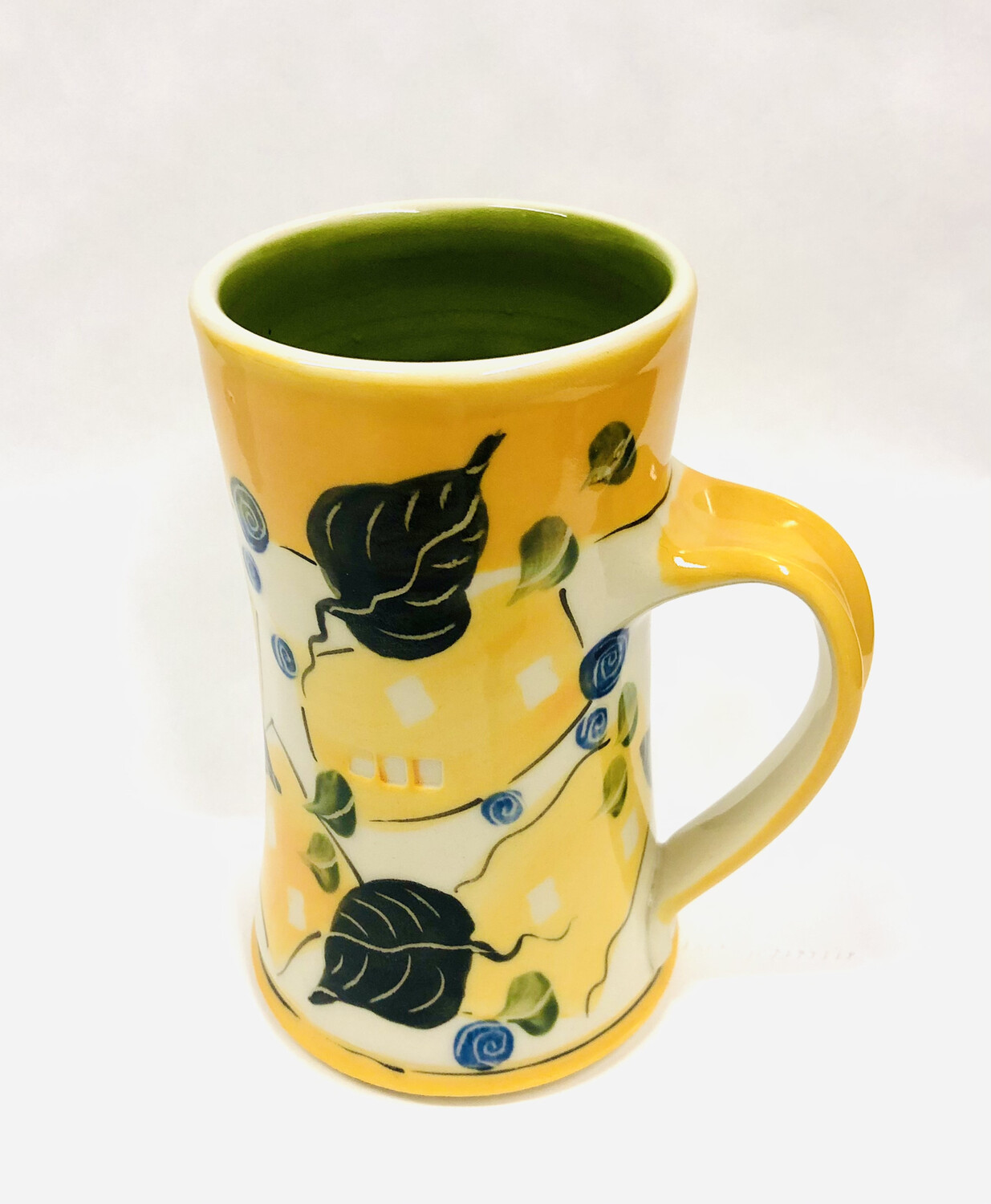 Orange Mug Green Inside - Keffer