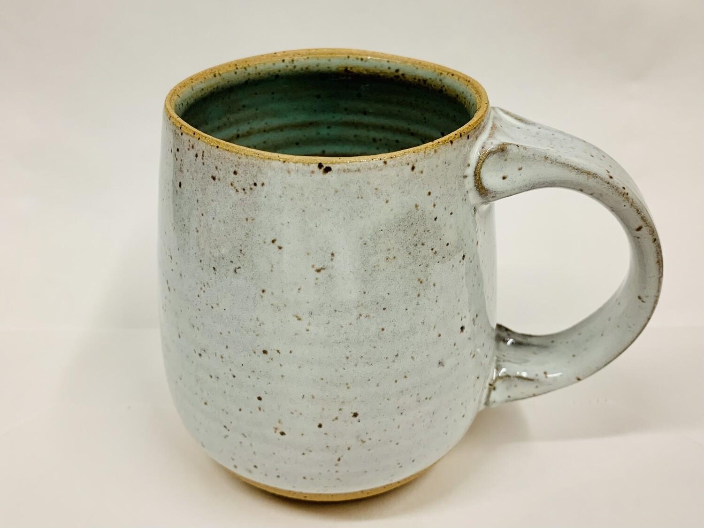 Toni Losey Mug- White Outside Blue Inside