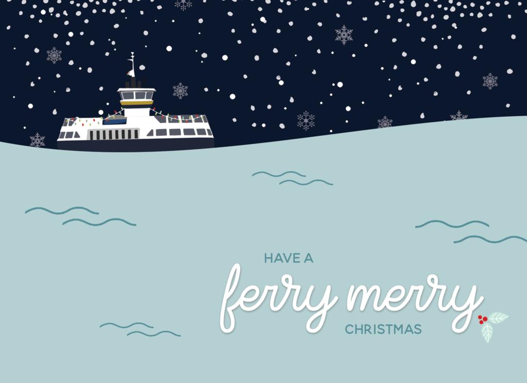 Ferry Merry Christmas Card