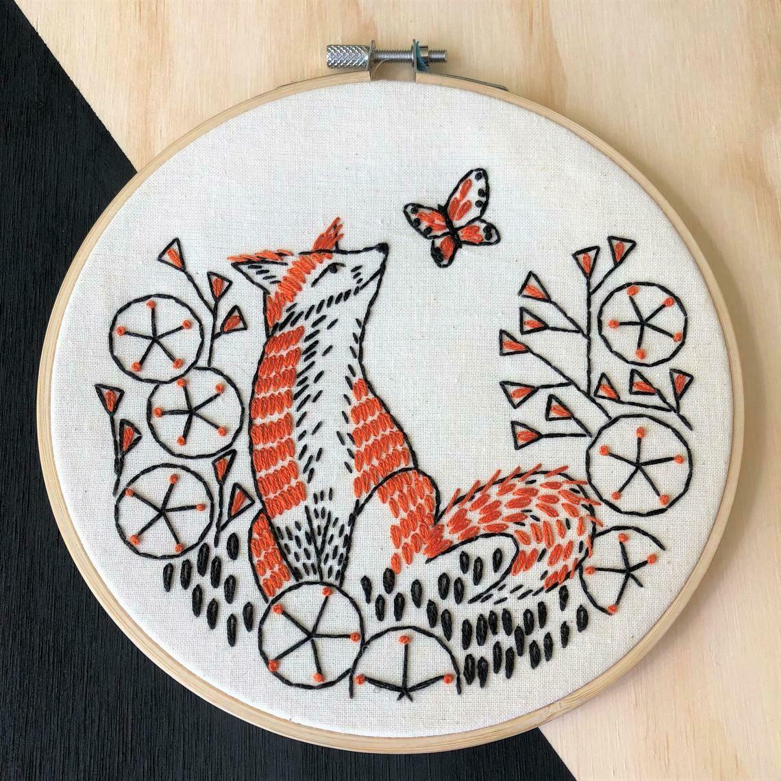 Hook Line & Tinker Fox in Phlox