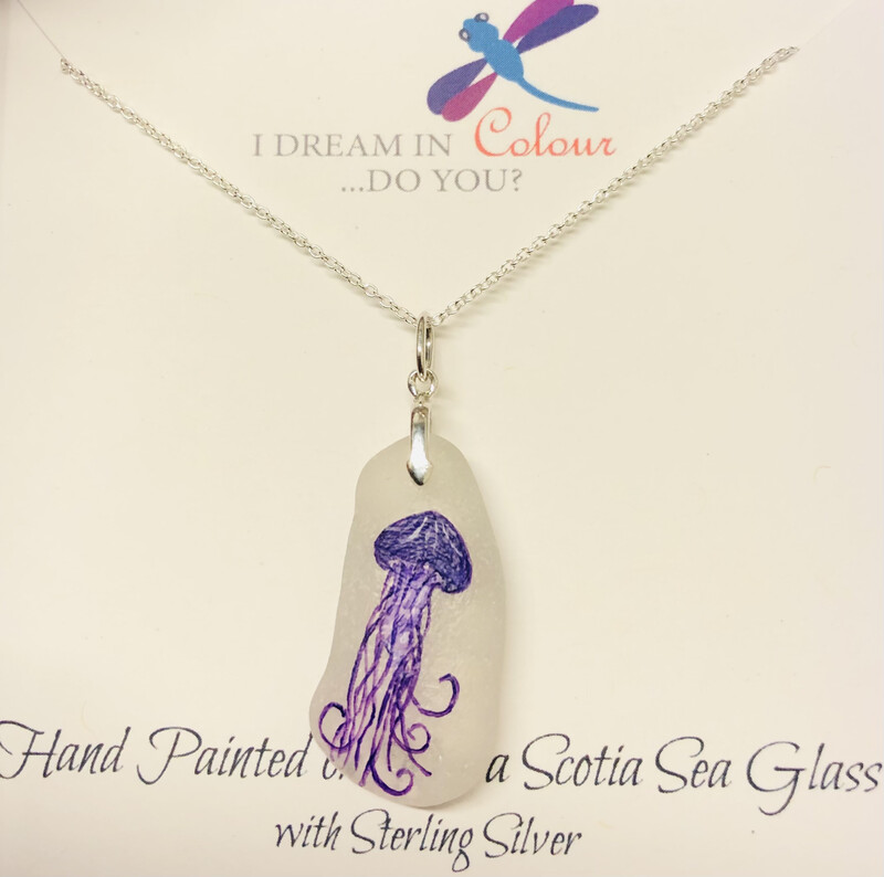 Painted Sea Glass, Jellyfish - I Dream in Colour