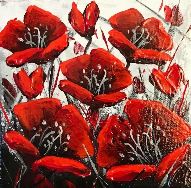 Joyful - Winter Poppies 6x6