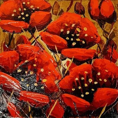 Brilliant - Golden Poppies 6x6