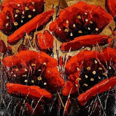 Glorious - Golden Poppies 6x6